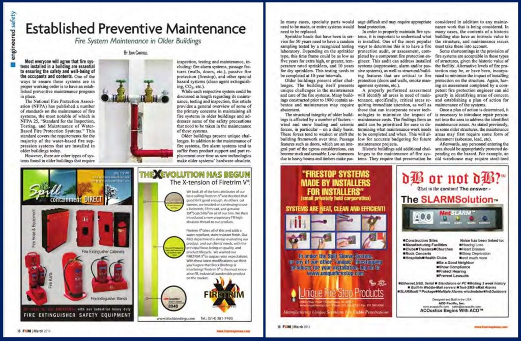 Older Buildings Fire System Maintenance
