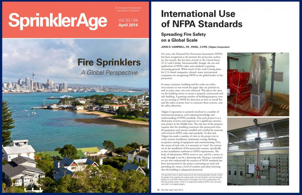 International Use of NFPA Standards