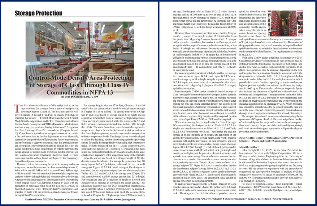 NFPA 13 article by Telgian's John Campbell featured in Fire Protection Contractor / FPC magazine