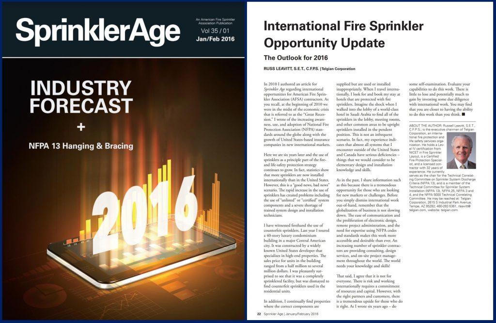 International Fire Sprinkler