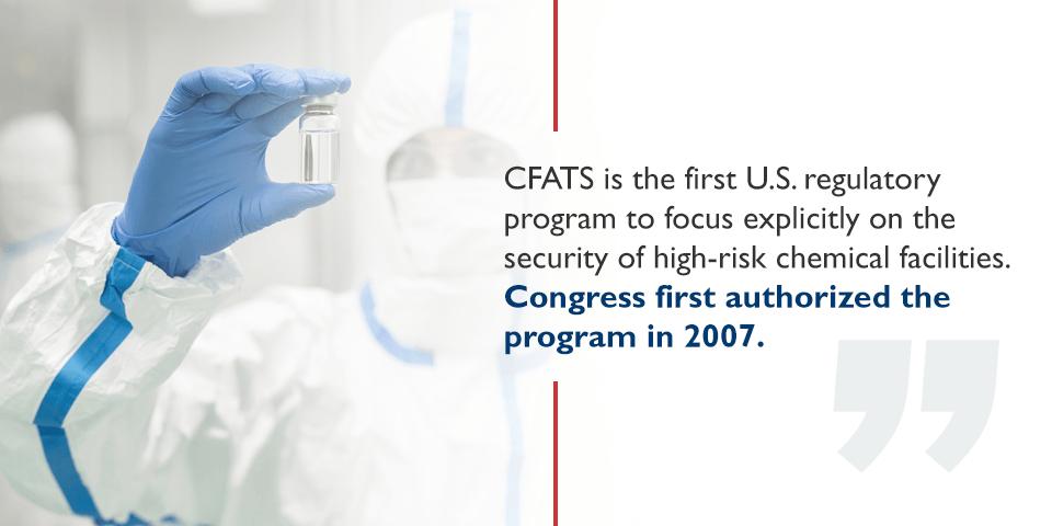 CFATS regulatory program for chemical facilities