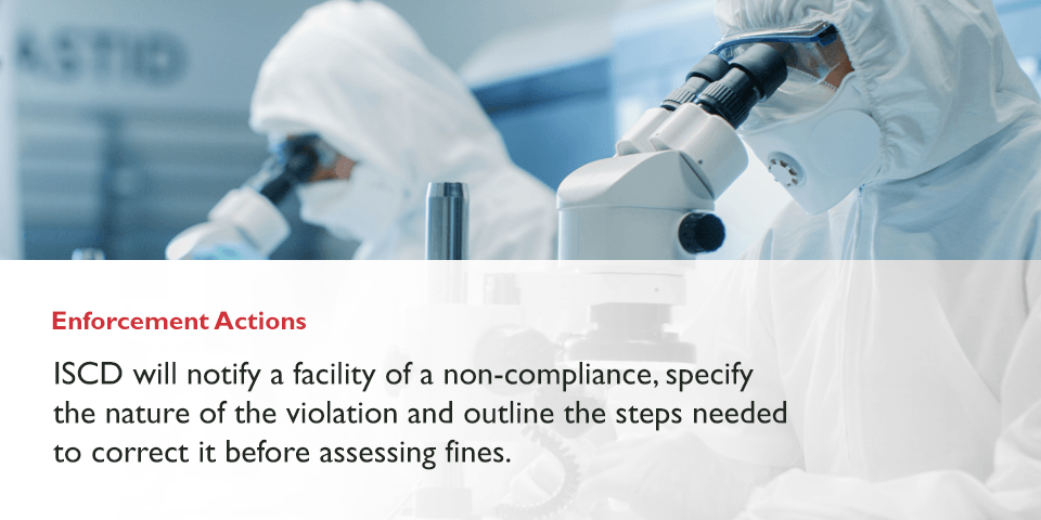 CFATS non-compliance enforcement actions