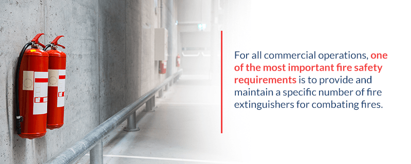 Fire extinguisher requirements commercial buildings