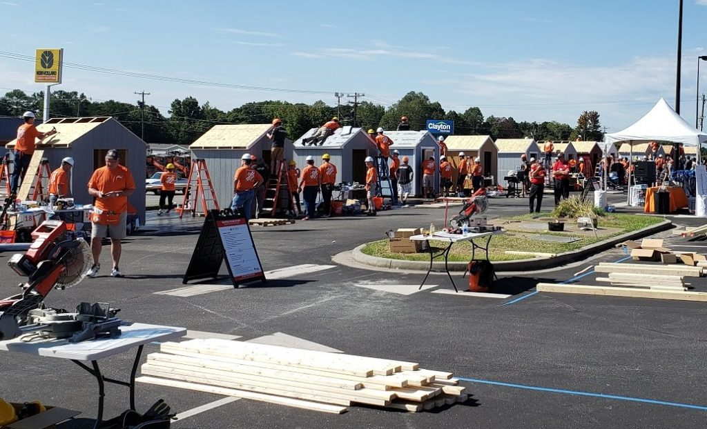 Supporting our Veterans at the 2019 Home Depot Foundation Event hosted by the Supply Chain Department