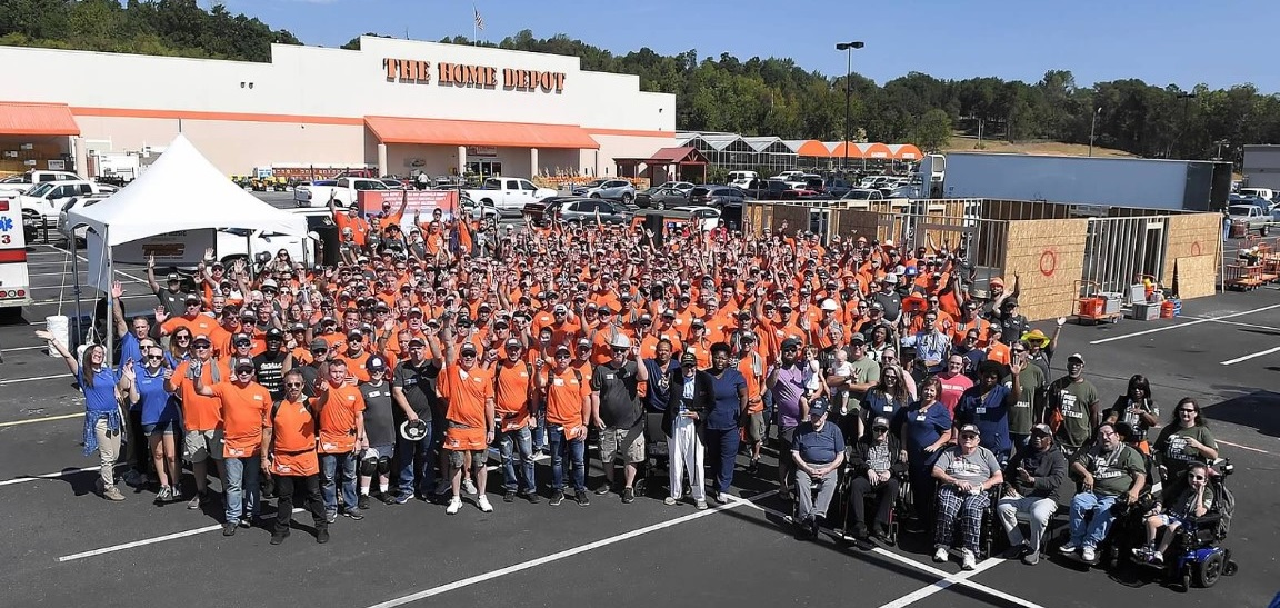 Telgian is supporting our Veterans at the 2019 Home Depot Foundation Event hosted by the Supply Chain Department