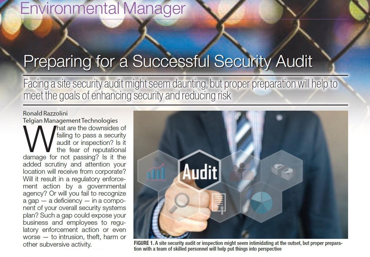 "Telgian's Ron Razzolini featured in Chemical Engineering magazine: ""Preparing for a Successful Security Compliance Audit"""