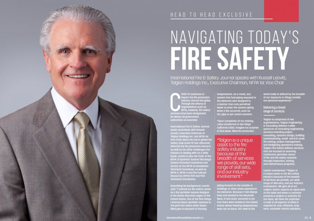 International Fire and Safety Journal Profile: Telgian Executive Chairman and NFPA 1st Vice Chair Russell Leavitt