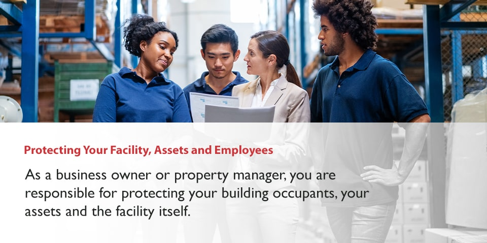 Protecting business facility, assets and employees fire safety
