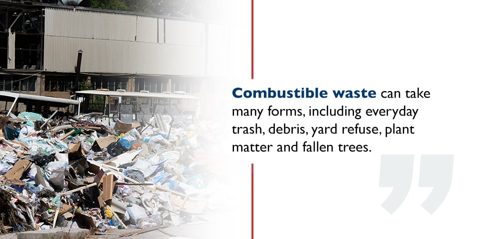 Combustible waste storage requirements